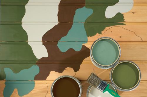 armé kamouflage golv måla